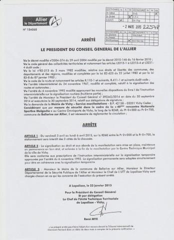 Arrêté Stationnement RNS 2015