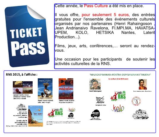 Tout le programme des événements culturels RNS 2015  avec le  Pass'Culture