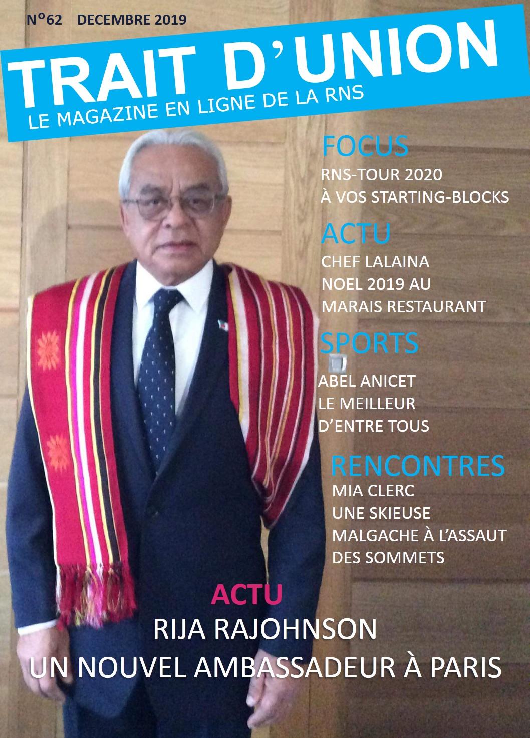 Trait d'Union numéro 62, le magazine en ligne de la RNS.