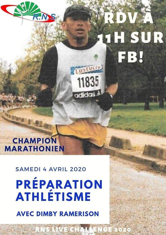 Live Challenge 2020 avec Dimby Ramerison, marathonien